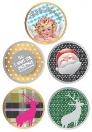 kerst stickers