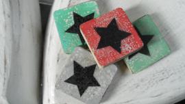 houten blokje ster