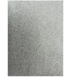 eva foam sheet zilver glitter