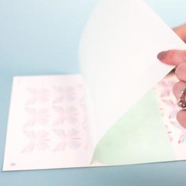SILHOUETTE TATTOO PAPER WHITE