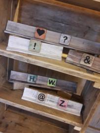 houten letterplank | enkel