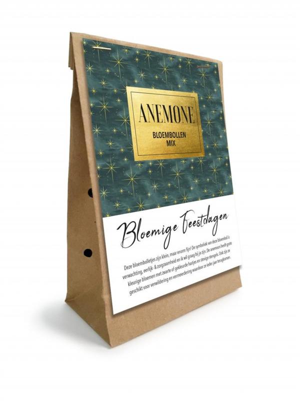 bloembollen anemonen in geschenkverpakking