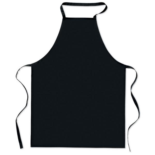 keukenschort zwart/ rood of taupe