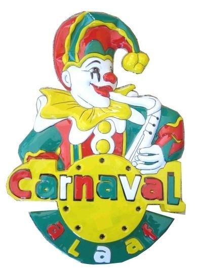muurversiering   clown carnaval