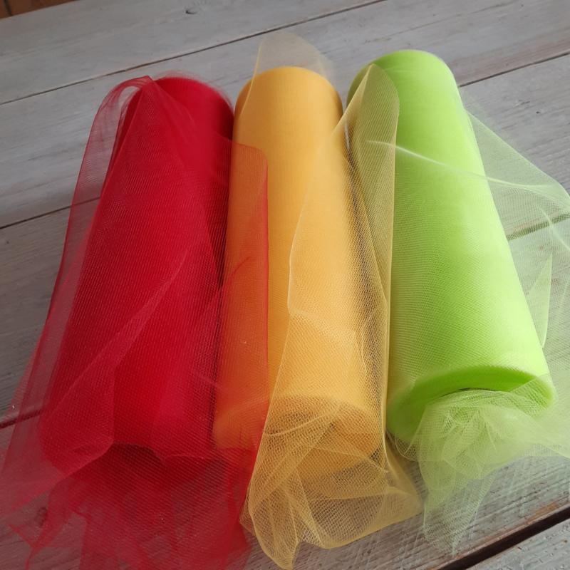 tule rood/geel/groen