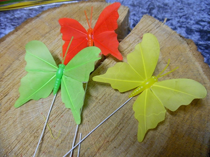vlinders   rood/geel/groen
