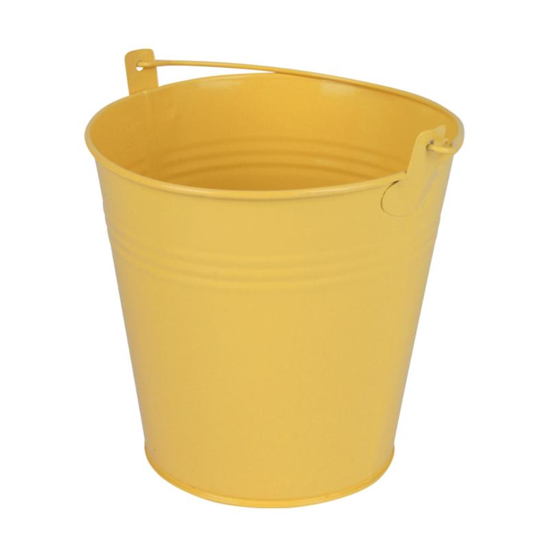 zinken emmertje mat geel Ø 15,5 H 14,8