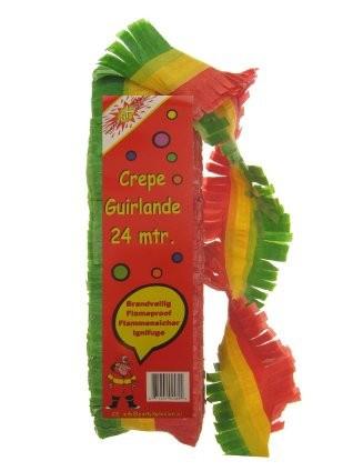 crepe slinger rood/geel/groen