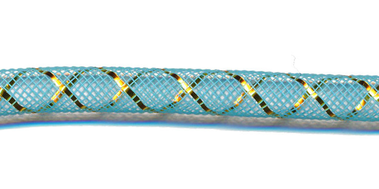 decoslang 8mm blauw/goud