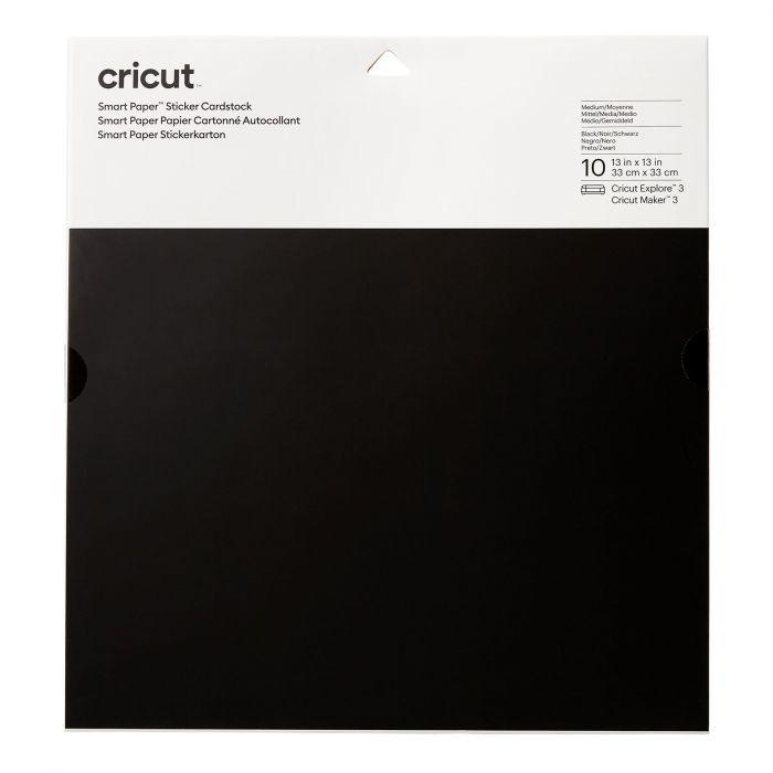 Cricut smart sticker cardstock ZWART 33 x 33 cm + PEN