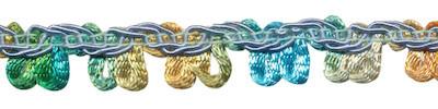 multicolor lusjesband blauw/groen/oker