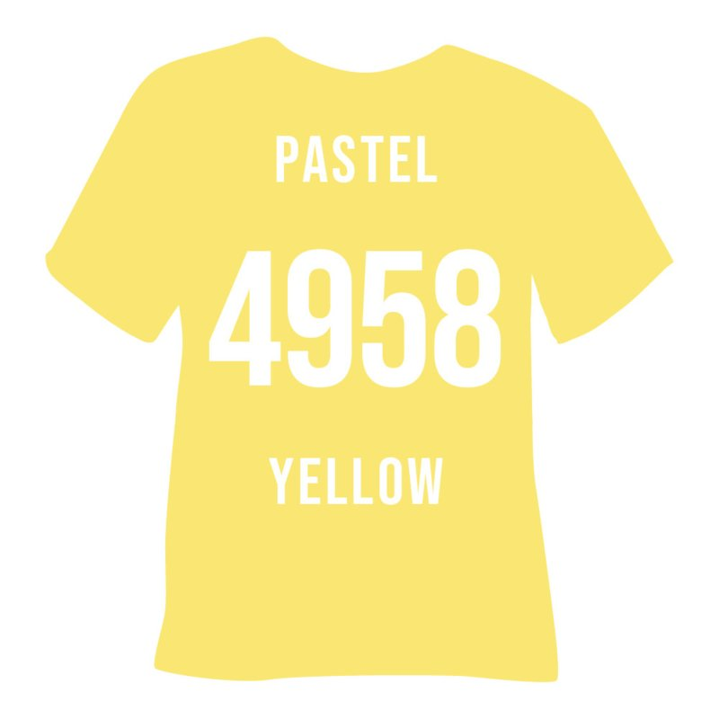 poli-flex turbo | pastel geel  50 x 14 cm