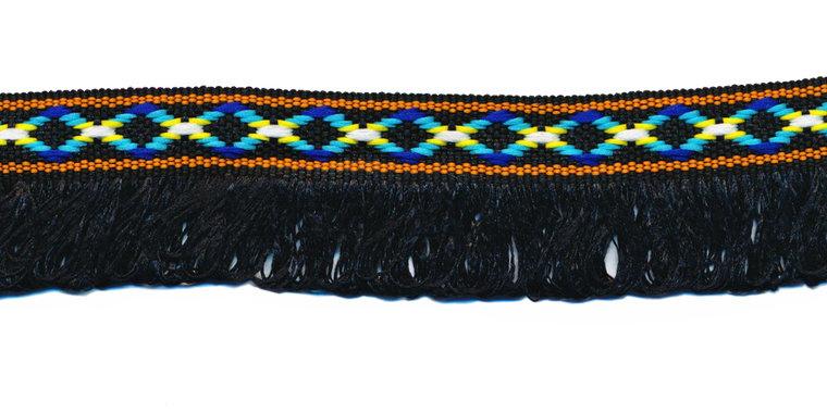 franjeband zwart ibiza stijl