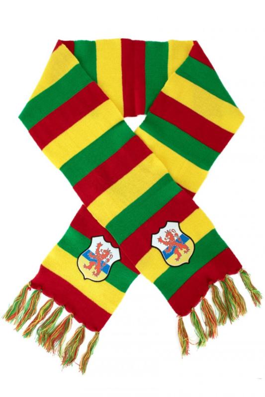gebreide sjaal met limburgse leeuw