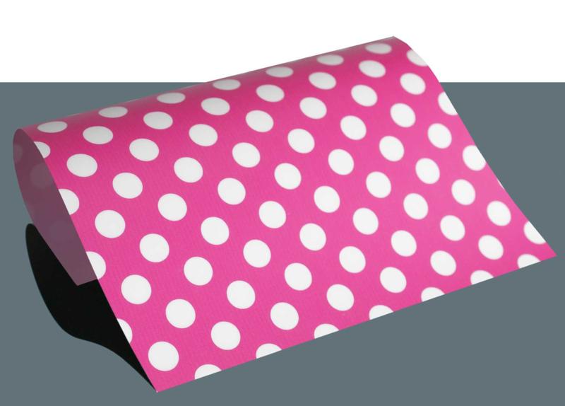design flex polka dots roze/wit