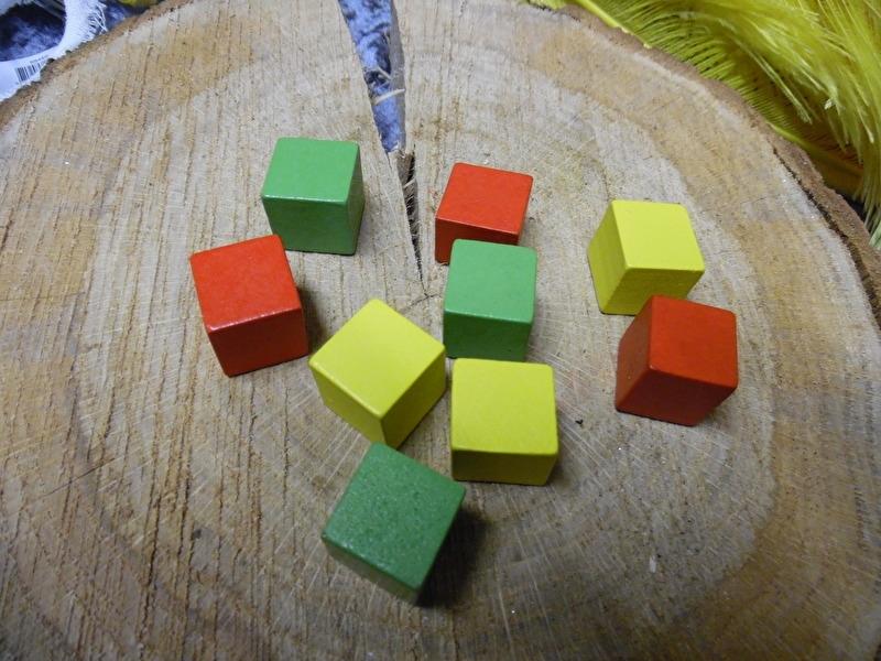 houten blokjes | rood/geel/groen