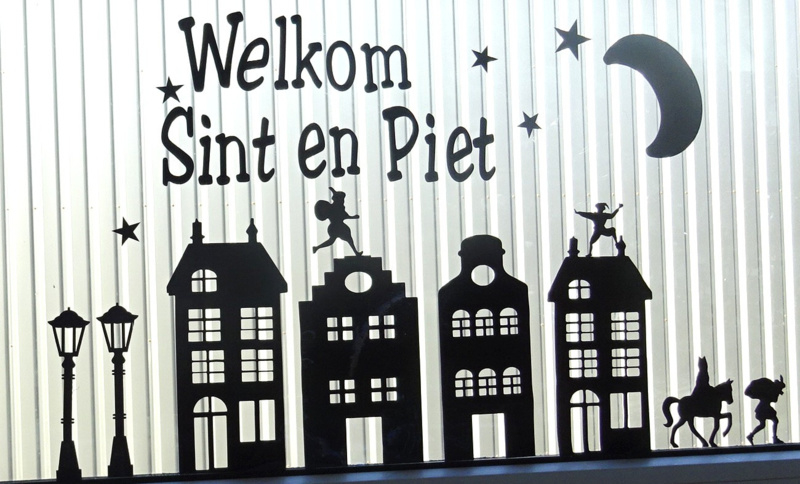 Raamsticker | Welkom Sint en Piet | SINTERKLAAS | Handig Gemaakt