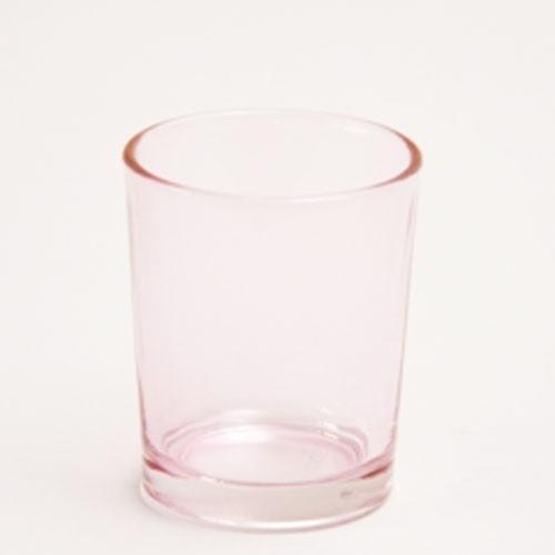 votive glaasje rose