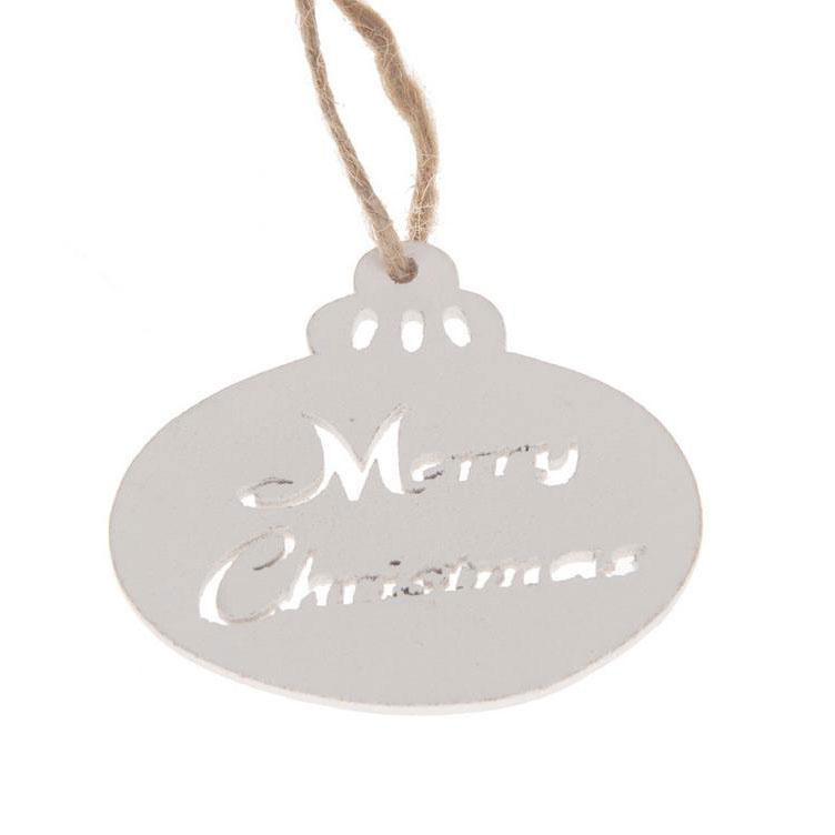 houten hanger kerstbal | merry christmas