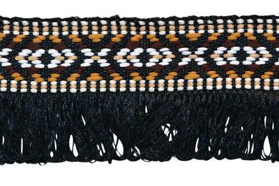 zwart franjeband aztec-stijl