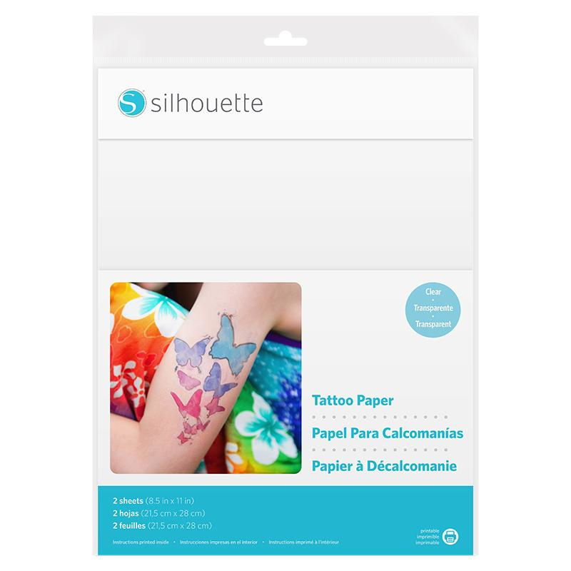 SILHOUETTE TATTOO PAPER CLEAR