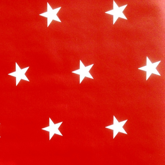 Kitsch Kitchen plakfolie | rood witte sterren