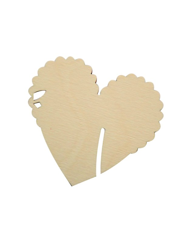 sublimatie hart wijnglashouder