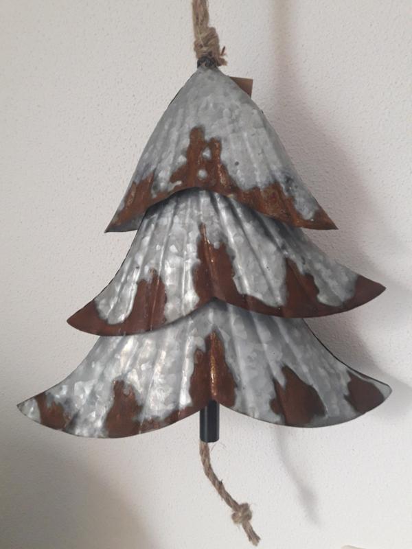 kerstboom bel zink