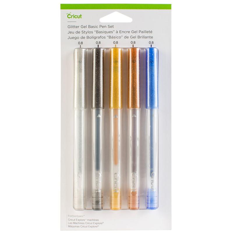 Glitter Gel-pennenset, basics (5 ct.)