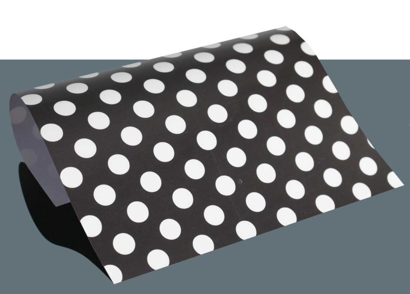 design flex polka dots zwart/wit