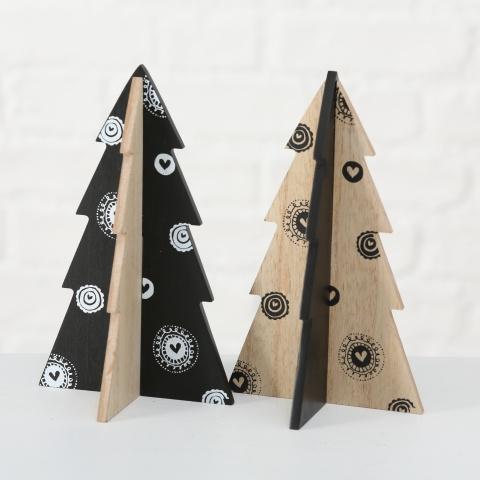 houten zwart/naturel kerstboom