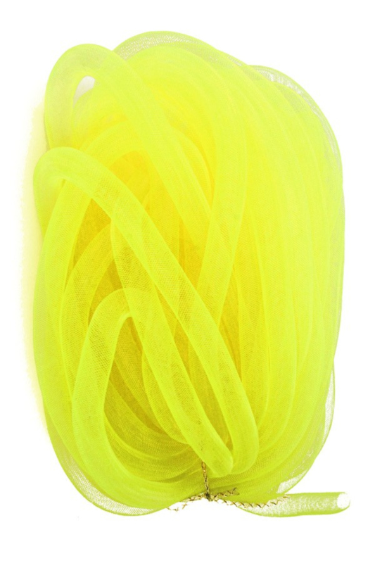 decoslang tube 16 mm neon geel