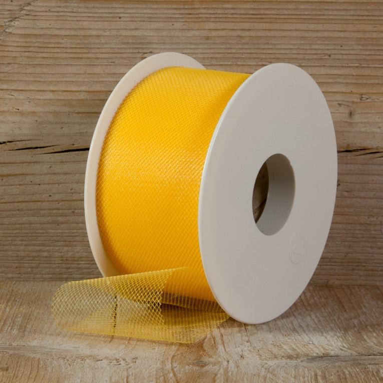 tule geel 5 cm breed