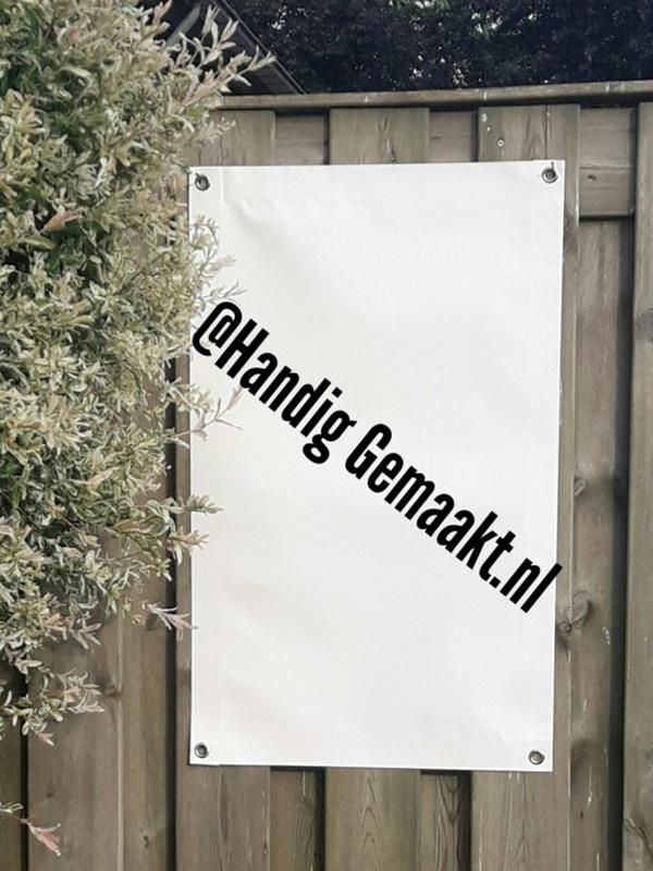 blanco tuinposter/woonposter met ringen | wit