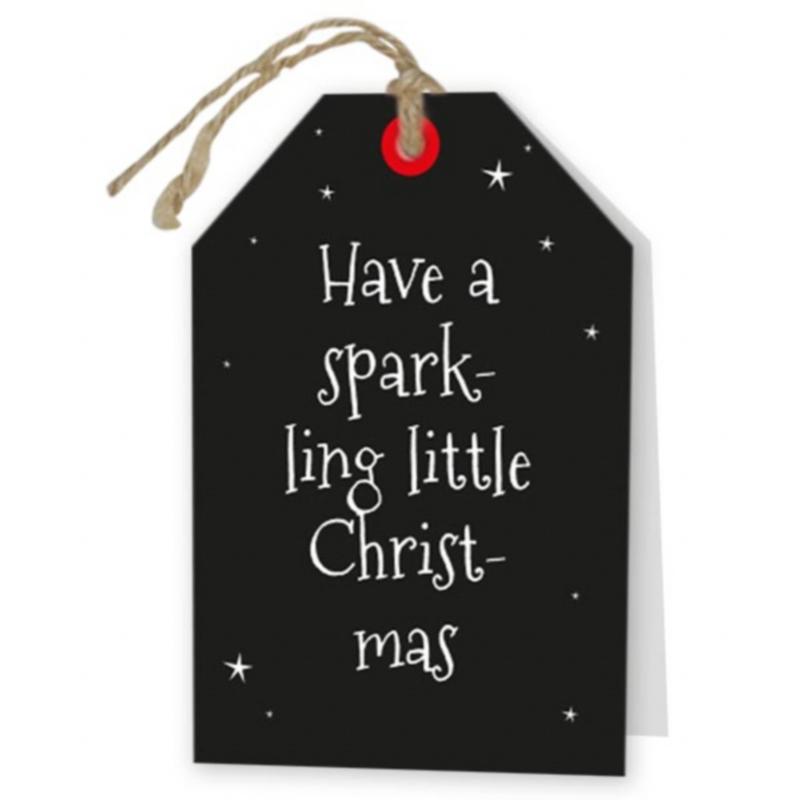 kerst wenskaart zwart met tekst