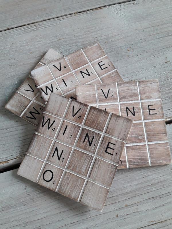 houten onderzetters | wine