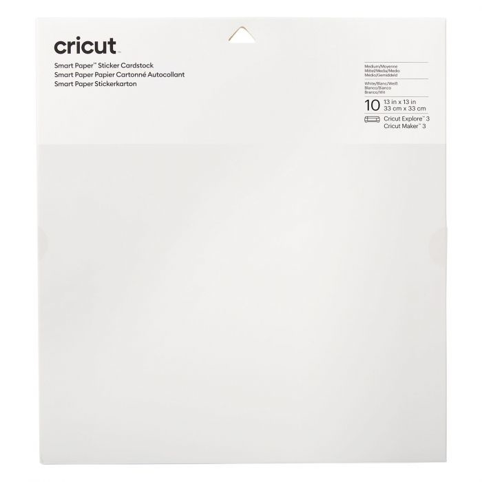 Cricut smart sticker cardstock WIT 33 x 33 cm  + PEN
