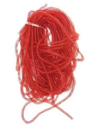 decoslang tube rood 10mm 2,5 mtr