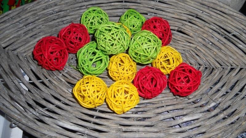 pitriet balletjes rood/geel/groen 4cm