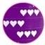 krullint paars met hartjes