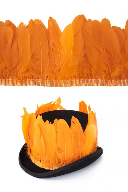 ganzenveren op band oranje