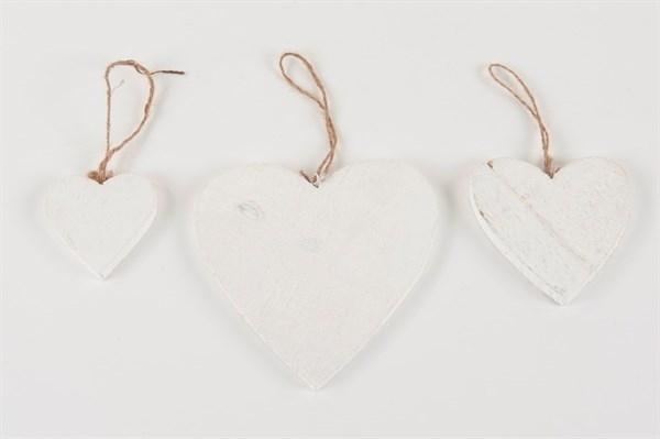 wit houten hart 10 cm