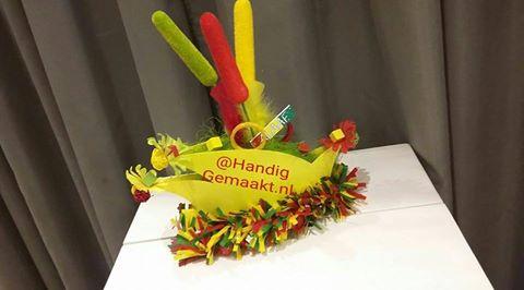 Carnavalssteek rood/geel/groen