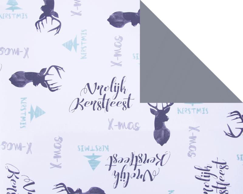 kerst inpakpapier | deer christmas