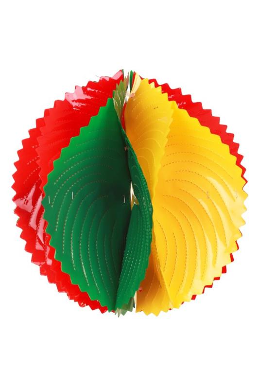 pvc decoratiebal rood/geel/groen 20cm