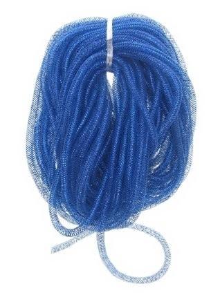 decotube blauw 10 mm   2,5 mtr