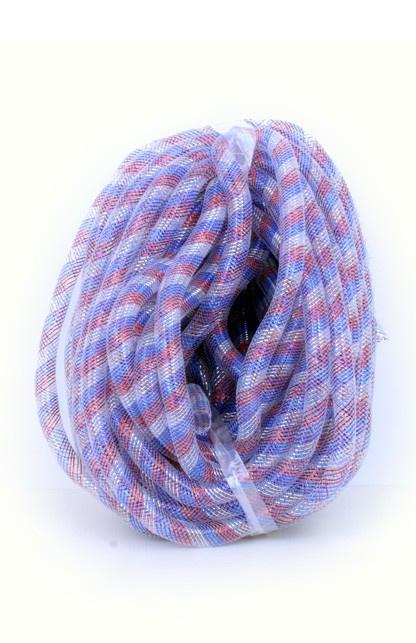 decoslang tube 16 mm rood/wit/blauw
