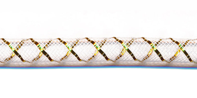 decoslang 8 mm wit/goud