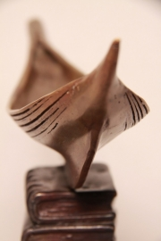 Bronzen beeld  Reis vol wijsheid
