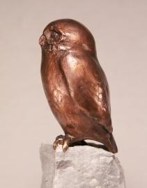 """Bronzen beeld uil """"Doel bereikt"""""""